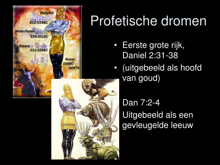 Eerste grote rijk, Daniel 2:31-38