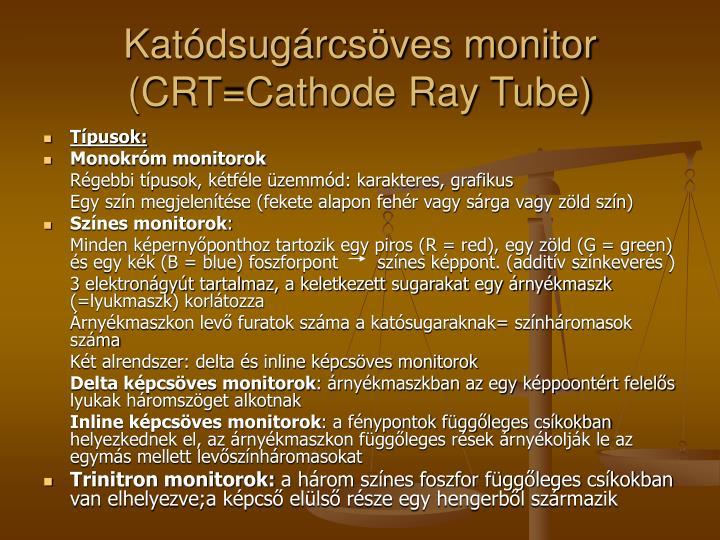 Katódsugárcsöves monitor