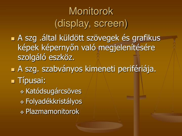 Monitorok display screen