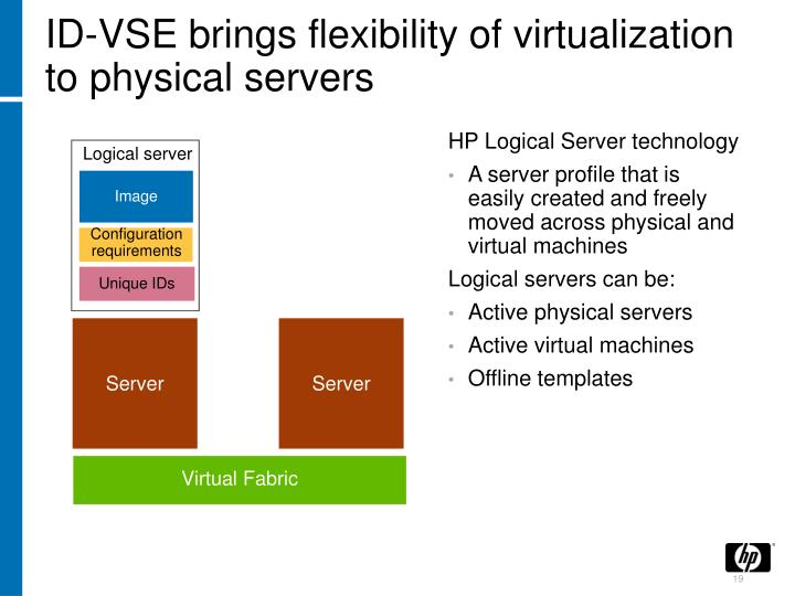 ID-VSE brings flexibility of virtualization to physical servers