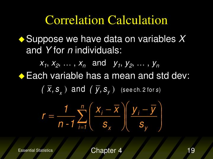 Correlation Calculation
