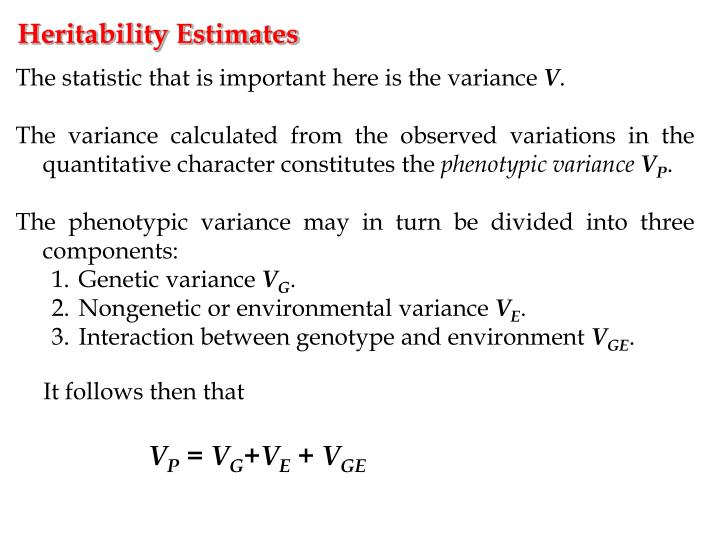 Heritability Estimates