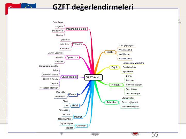 GZFT değerlendirmeleri