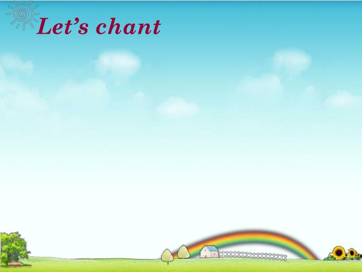 Let's chant