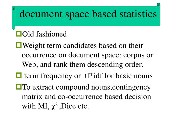 document space based statistics