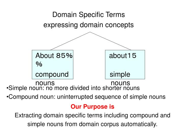 Domain Specific Terms