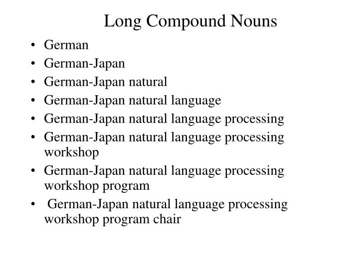 Long Compound Nouns