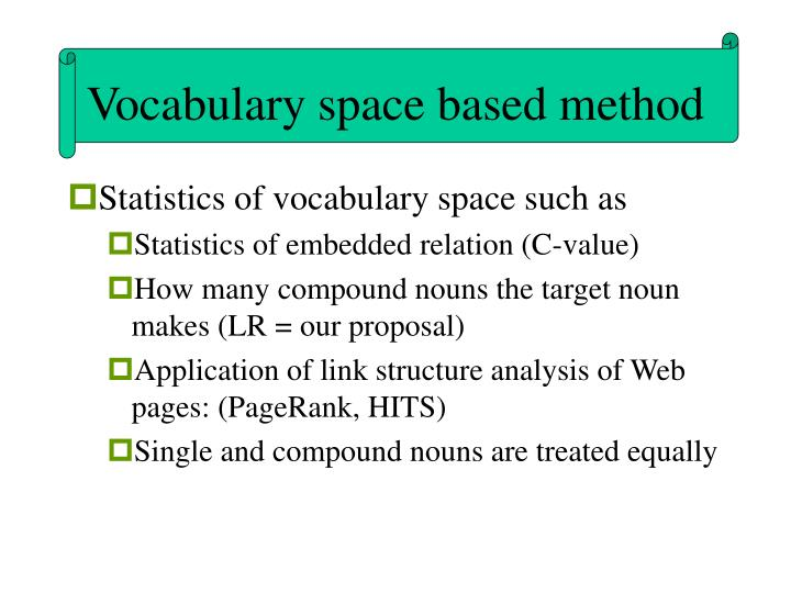 Vocabulary space based method