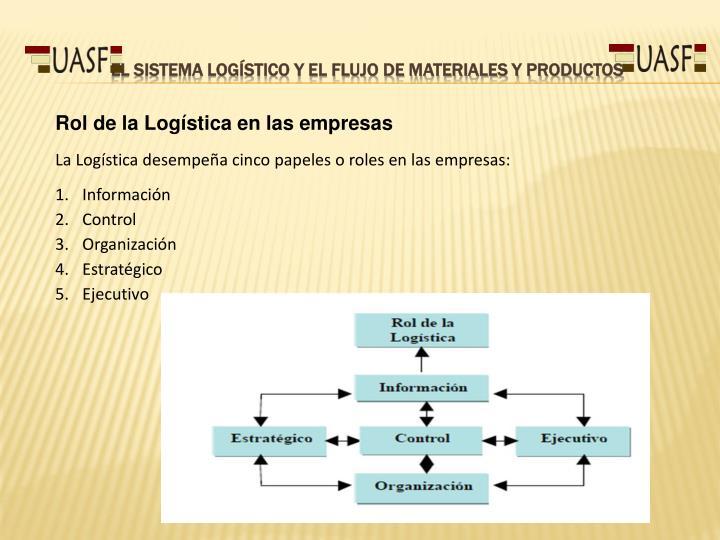 El Sistema Logístico y el flujo de materiales y productos