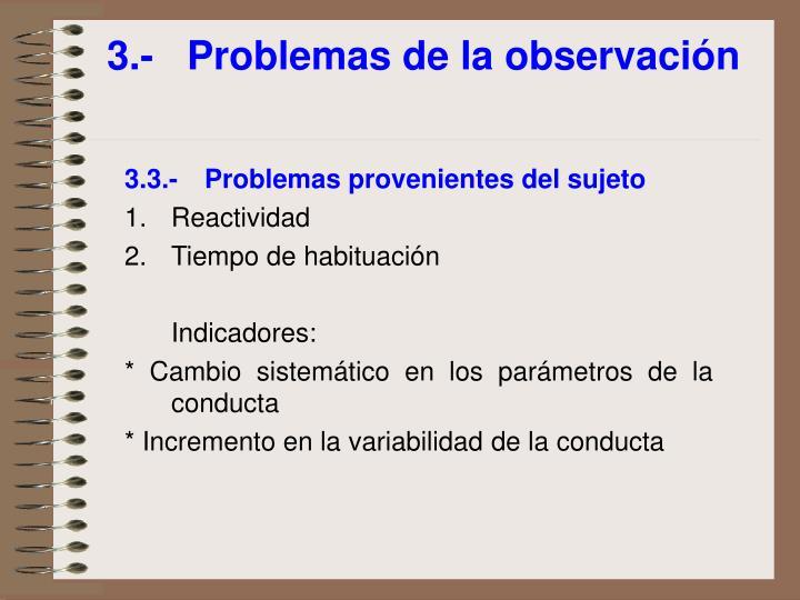 3.-Problemas de la observación