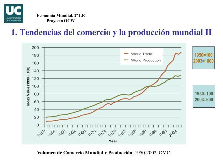 1. Tendencias del comercio y la producción mundial II