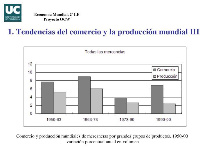 1. Tendencias del comercio y la producción mundial III