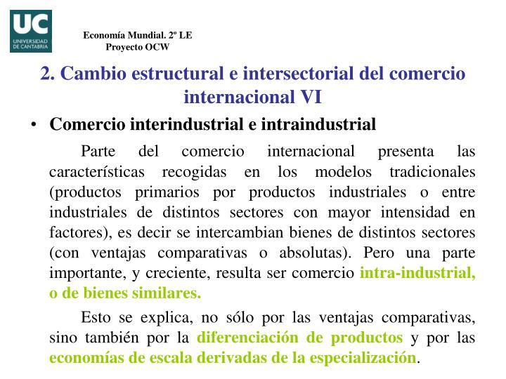 Comercio interindustrial e intraindustrial