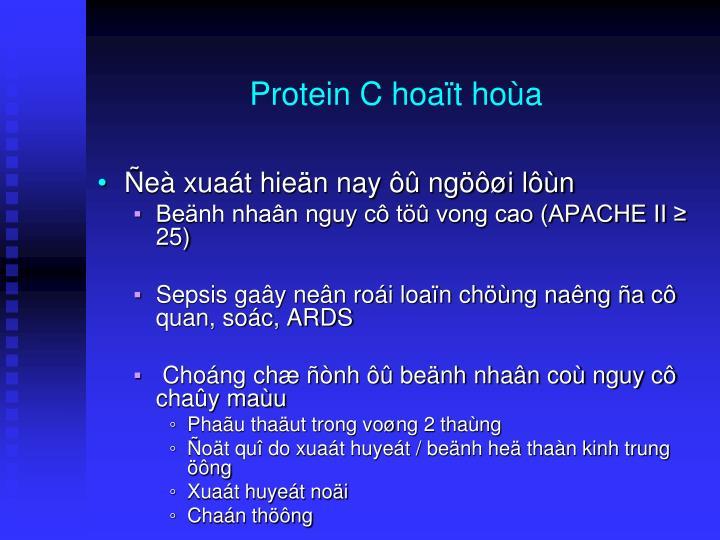 Protein C hoaït hoùa