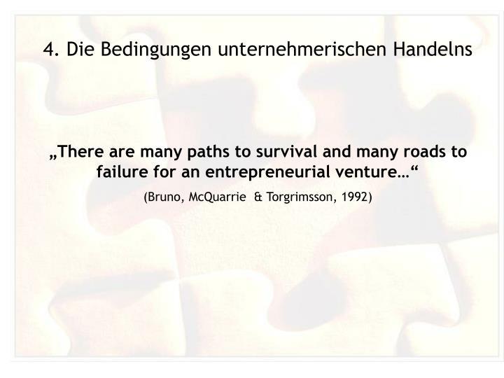 4. Die Bedingungen unternehmerischen Handelns