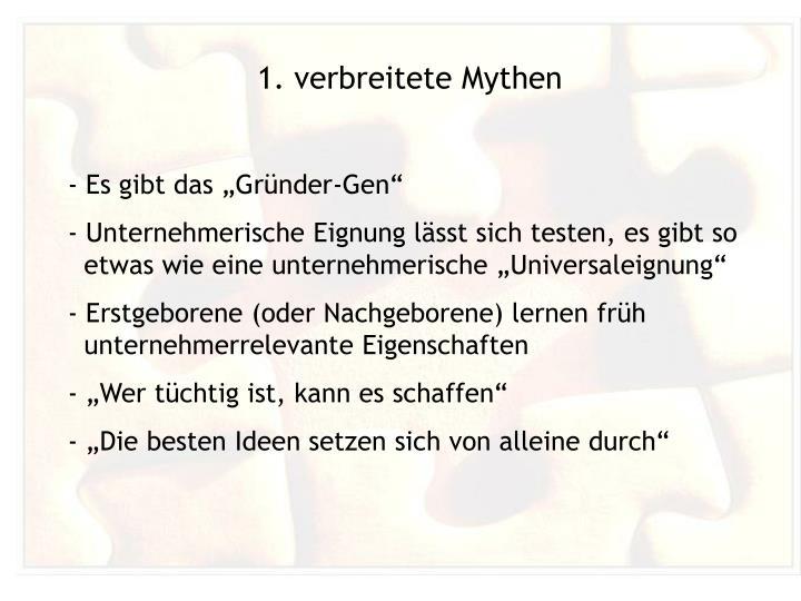 1. verbreitete Mythen