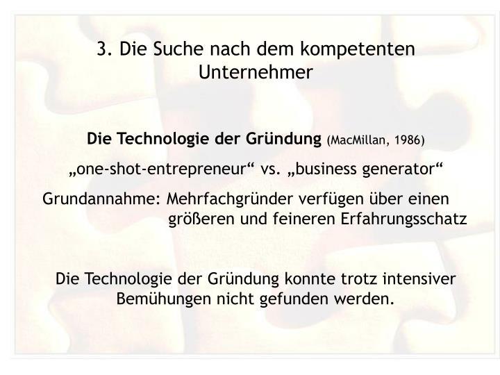 3. Die Suche nach dem kompetenten Unternehmer