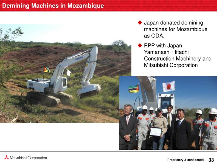 Demining Machines in Mozambique