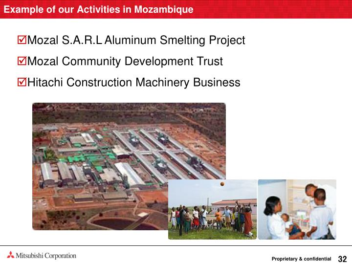 Example of our Activities in Mozambique