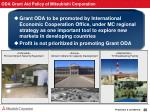 oda grant aid policy of mitsubishi corporation