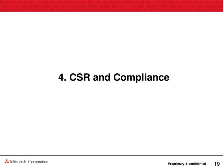 4. CSR and Compliance