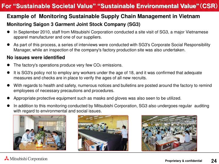 "For ""Sustainable Societal Value"" ""Sustainable Environmental Value"""