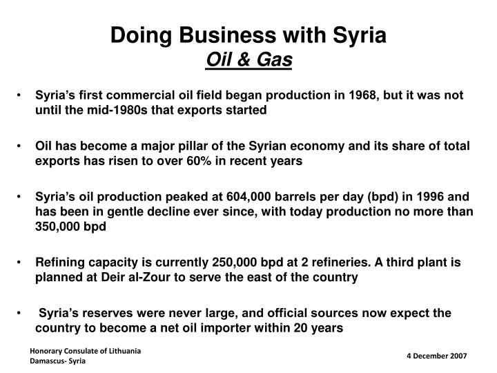 Doing Business with Syria