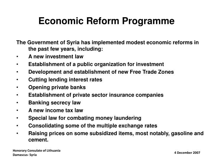 Economic Reform Programme