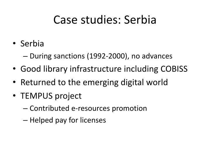 Case studies: Serbia