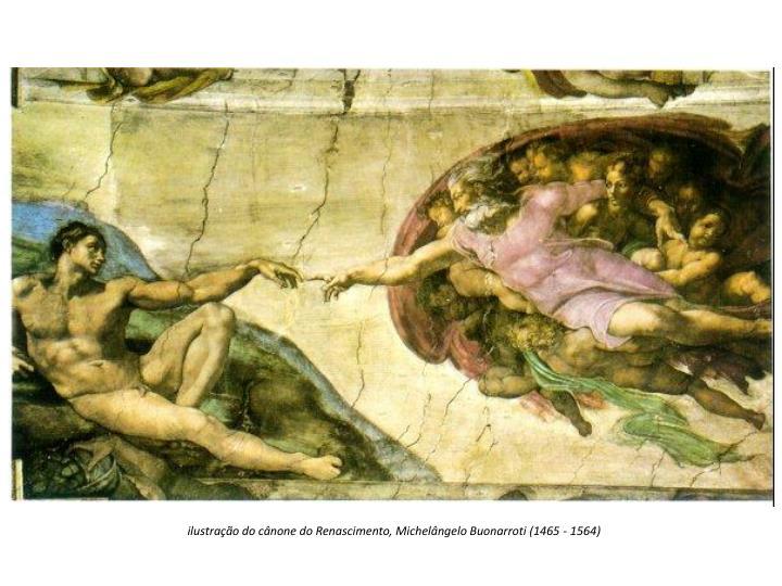 ilustração do cânone do Renascimento, Michelângelo Buonarroti (1465 - 1564)