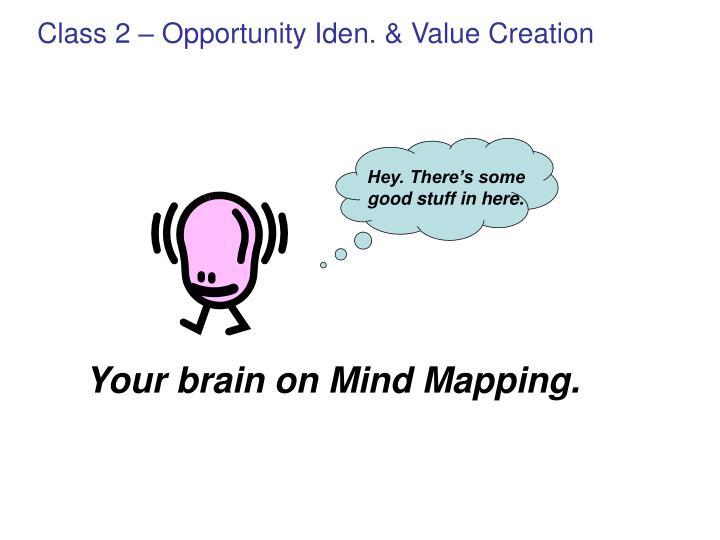 Class 2 – Opportunity Iden. & Value Creation