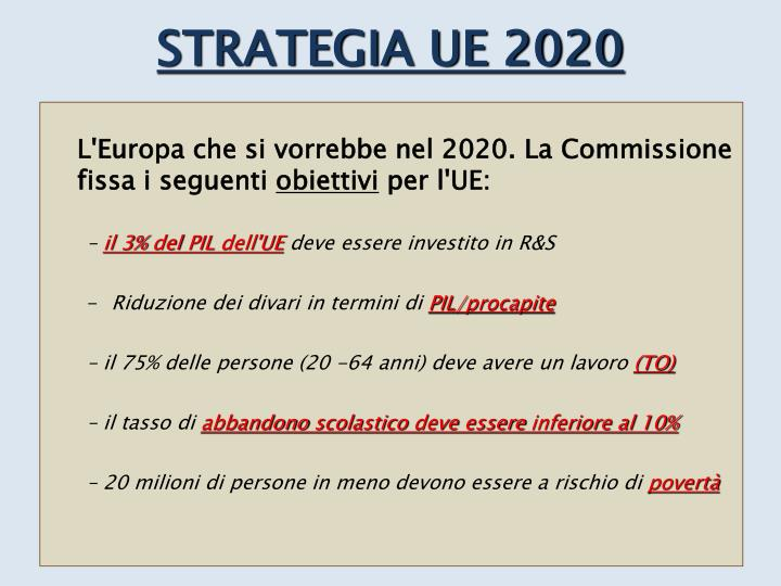 STRATEGIA UE 2020