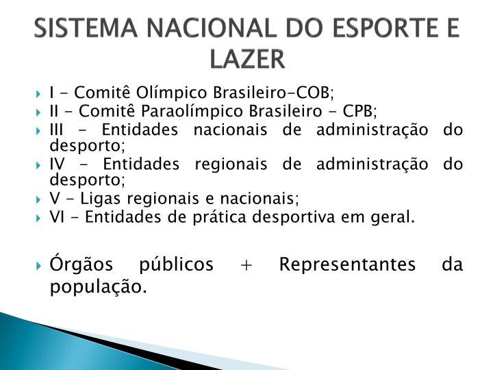 SISTEMA NACIONAL DO ESPORTE E LAZER