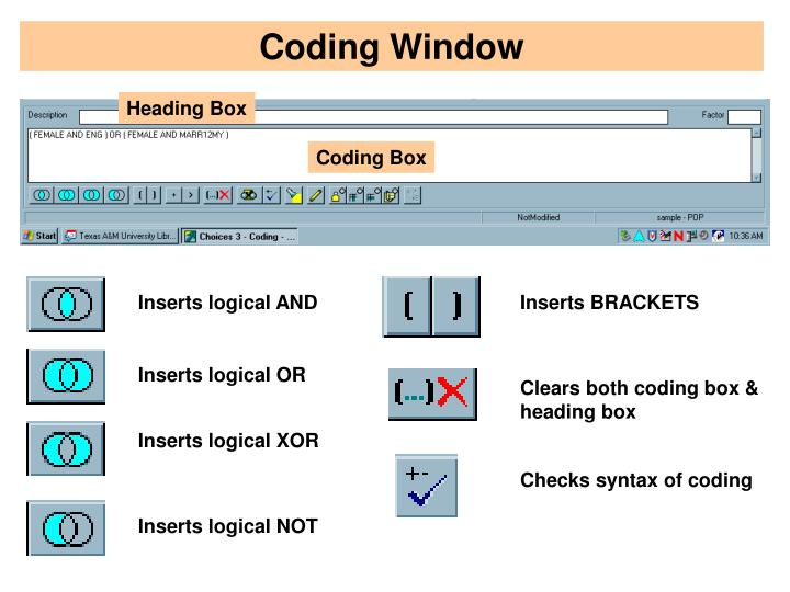 Coding Window