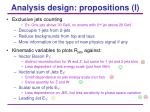analysis design propositions i