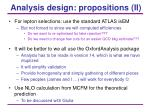 analysis design propositions ii