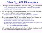 other r jets atlas analyses