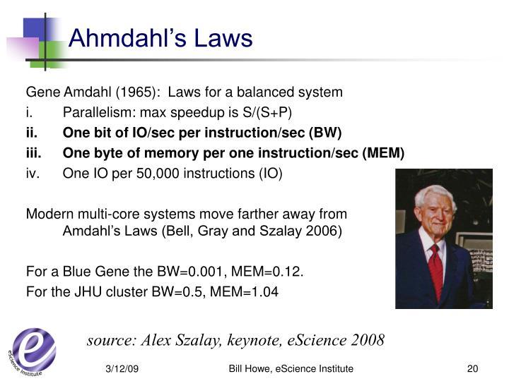 Ahmdahl's Laws