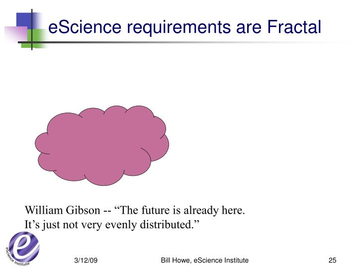 eScience requirements are Fractal