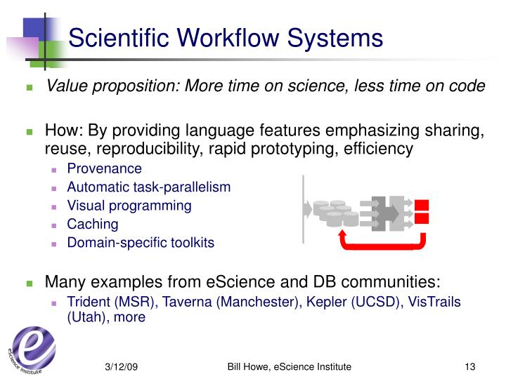 Scientific Workflow Systems