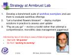 strategy at armbrust lab