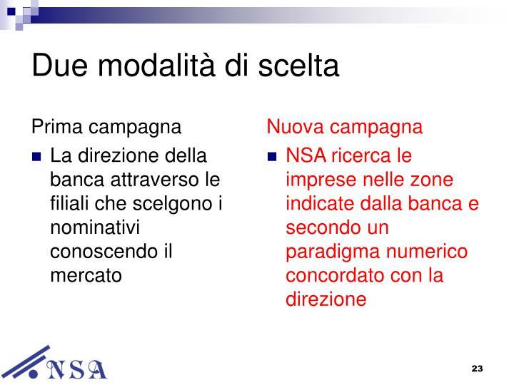 Prima campagna