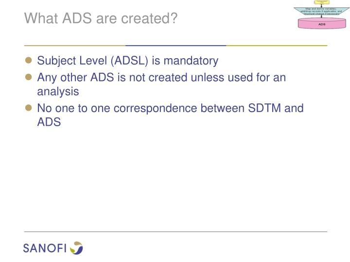 What ADS are created?