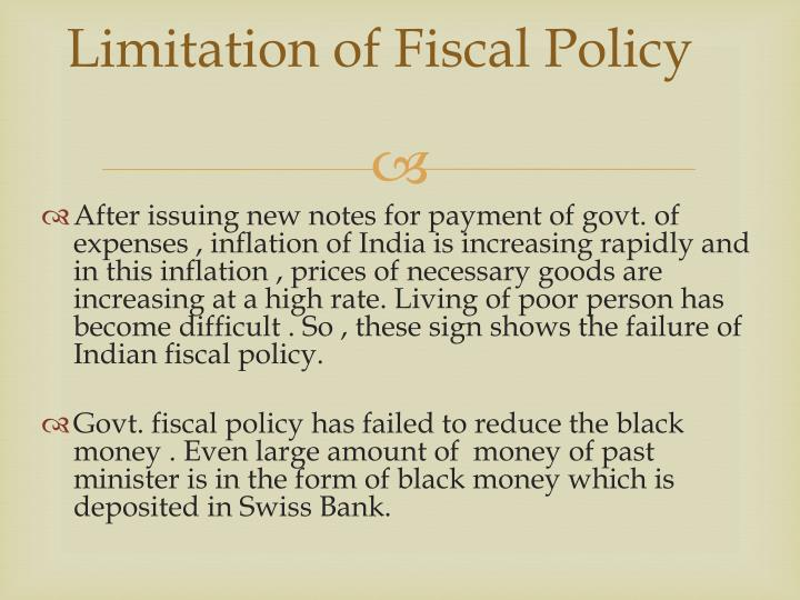 Limitation of Fiscal Policy