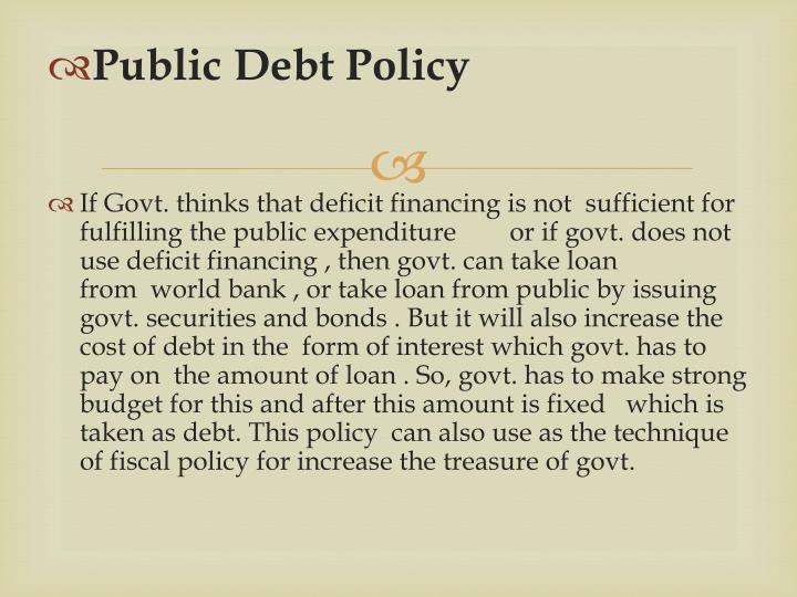 Public Debt Policy