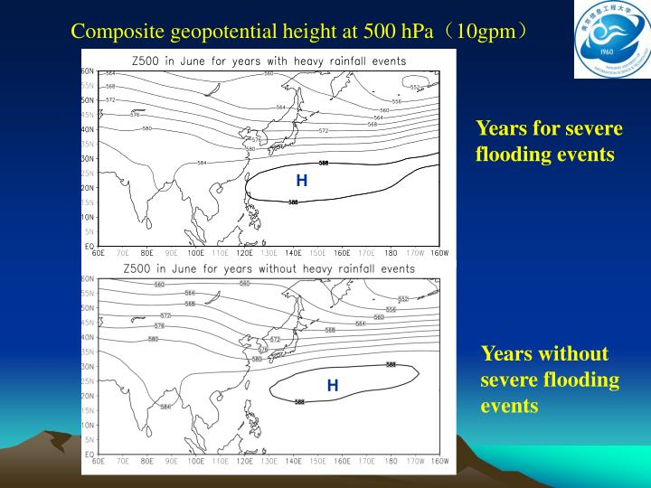 Composite geopotential height at 500 hPa