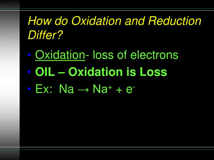 How do Oxidation and Reduction Differ?