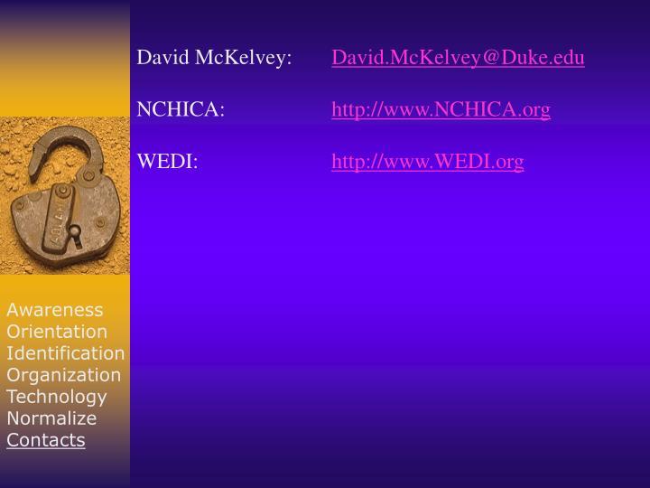 David McKelvey: