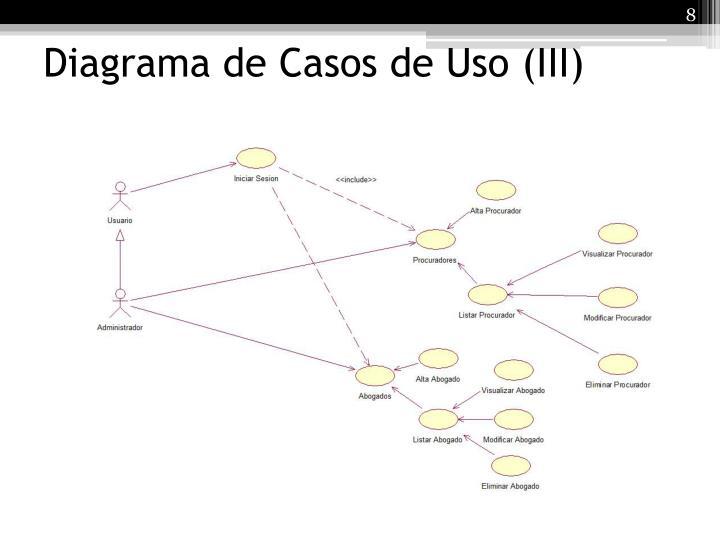 Diagrama de Casos de Uso (III)