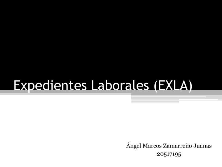 Expedientes laborales exla